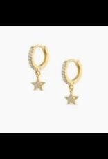 Modern Opus CZ Gold Star Huggie