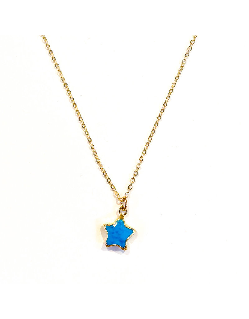 Ornamental Things Star Stone GF Turquoise Necklace