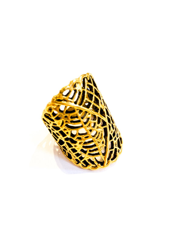 Ornamental Things Leaf Lace Ring