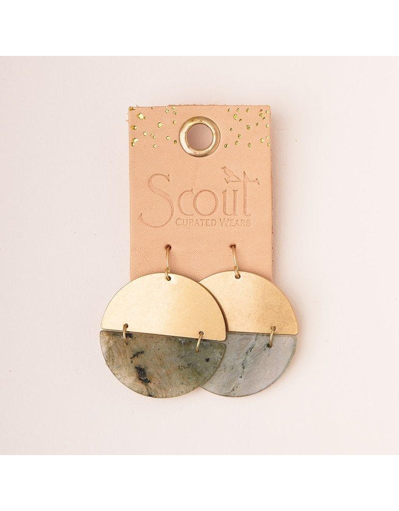 Scout Stone Full Moon Earring in Labradorite & Silver