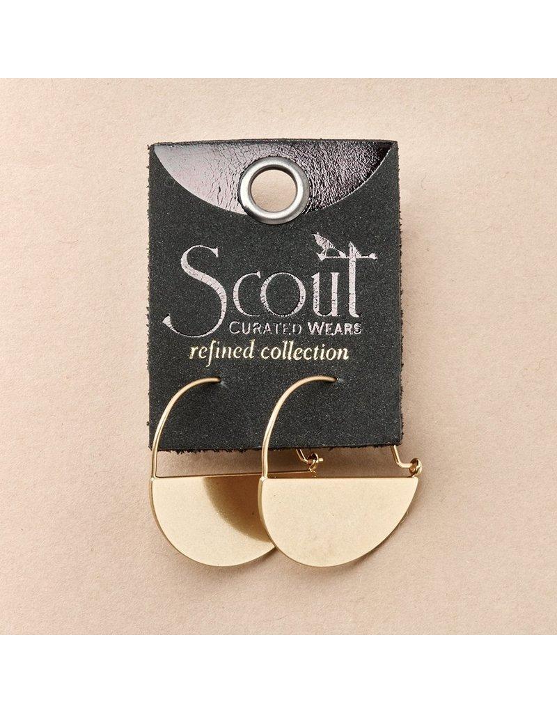 Scout Lunar Hoop in Gold Vermeil