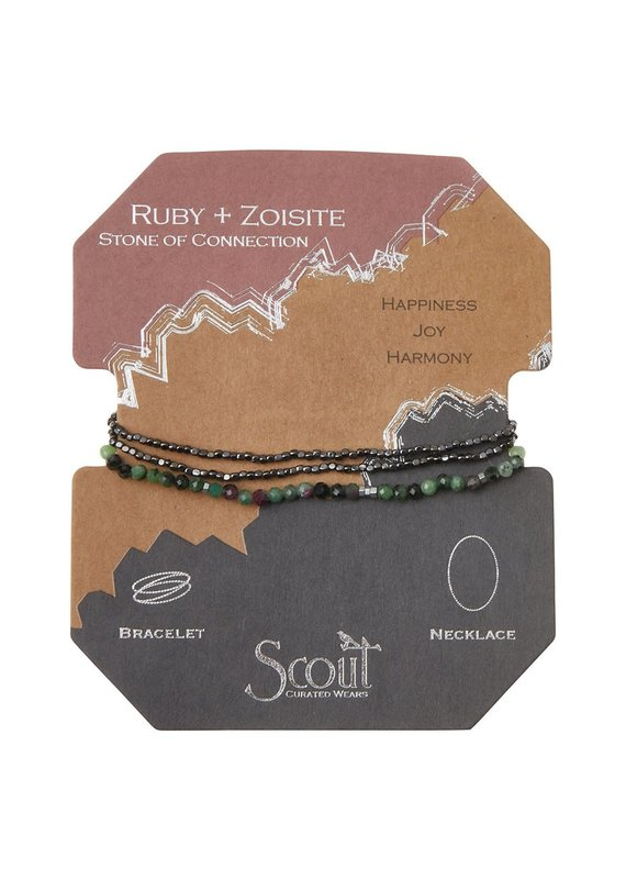 Scout Delicate Stone Ruby Zoisite - Stone of Connection