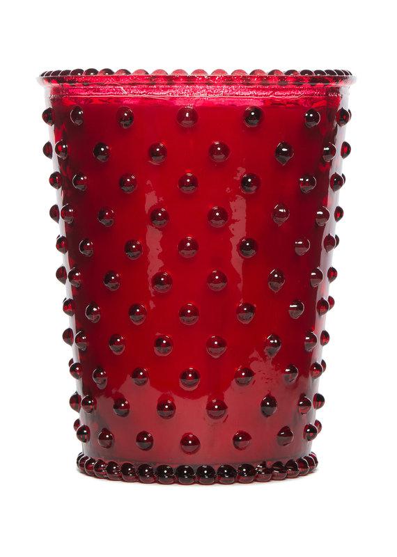 Simpatico Hobnail Glass Candle Reindeer 16oz