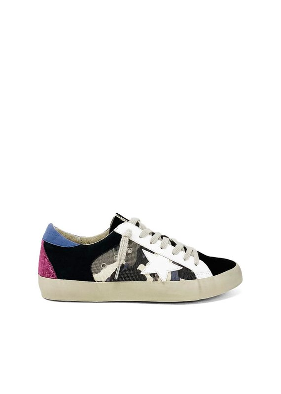 Shu Shop Perry Blue Camouflage Sneakers