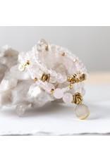 Lenny & Eva 4mm Gemstone Bracelet Rose Quartz