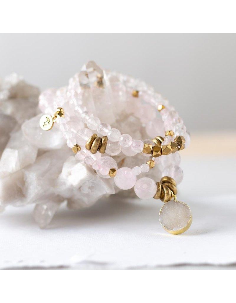 Lenny & Eva 8mm Gemstone Bracelet Rose Quartz