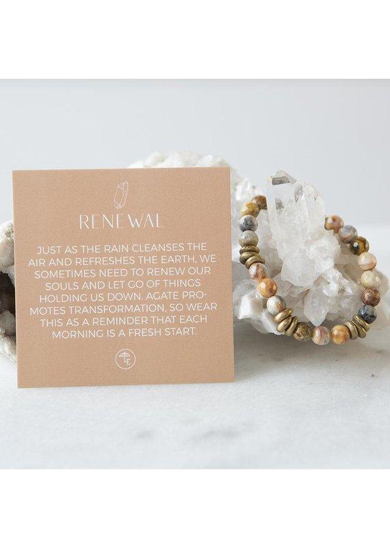 Lenny & Eva 8mm Gemstone Bracelet Mexican Agate
