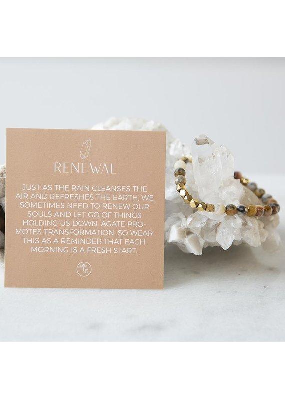 Lenny & Eva 6mm Gemstone Braclet Mexican Agate
