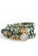 Lenny & Eva 4mm Gemstone Bracelet African Turquoise