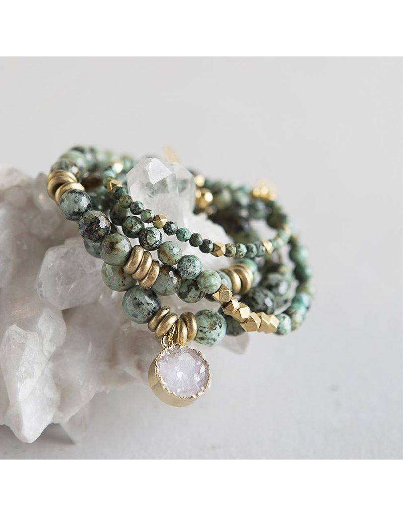 Lenny & Eva 6mm Gemstone Bracelet African Turquoise