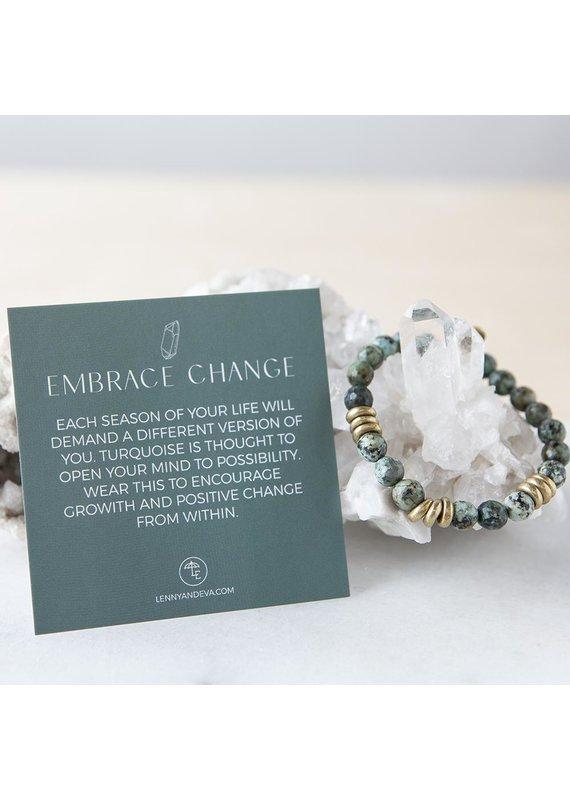 Lenny & Eva 8mm Gemstone Bracelet African Turquoise