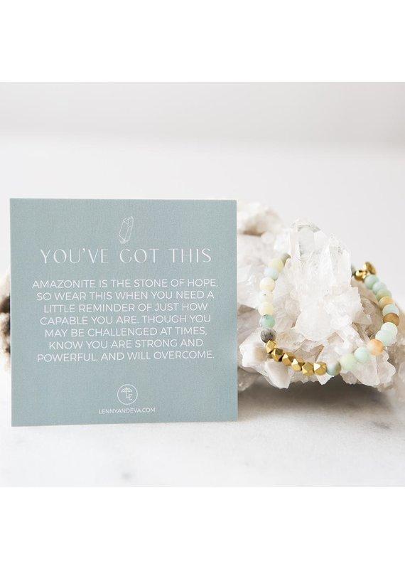 Lenny & Eva 6mm Amazonite Gemstone Bracelet