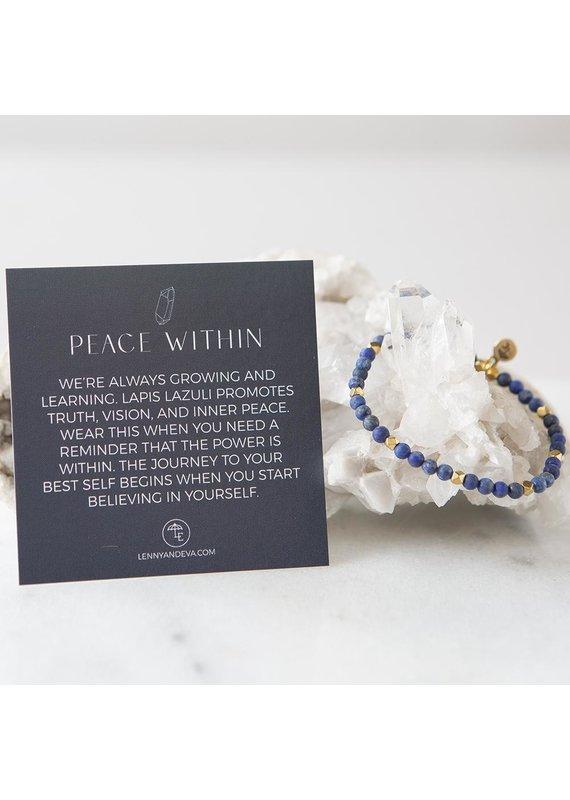 Lenny & Eva 4mm Lapis Lazuli Gemstone Bracelet