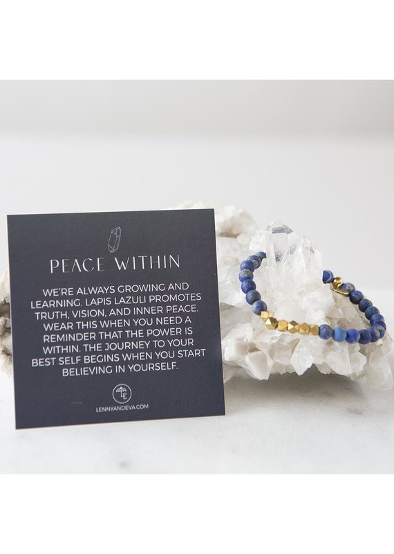Lenny & Eva 6mm Gemstone Bracelet Lapis Lazuli