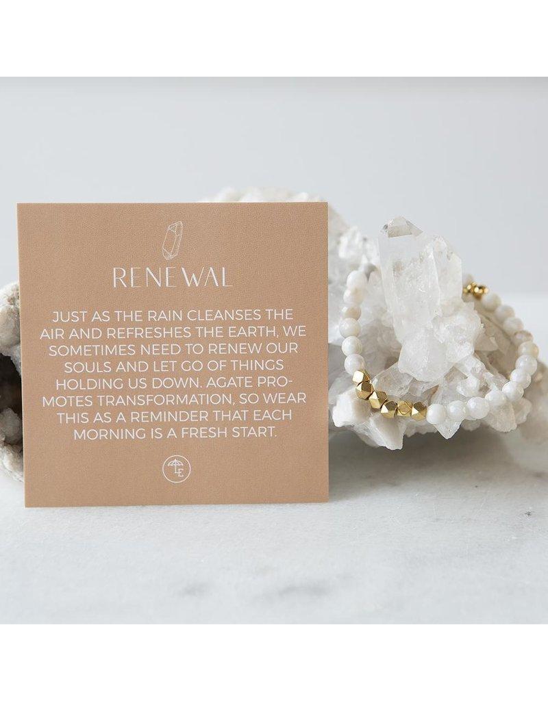 Lenny & Eva 6mm Gemstone Bracelet Gray Agate