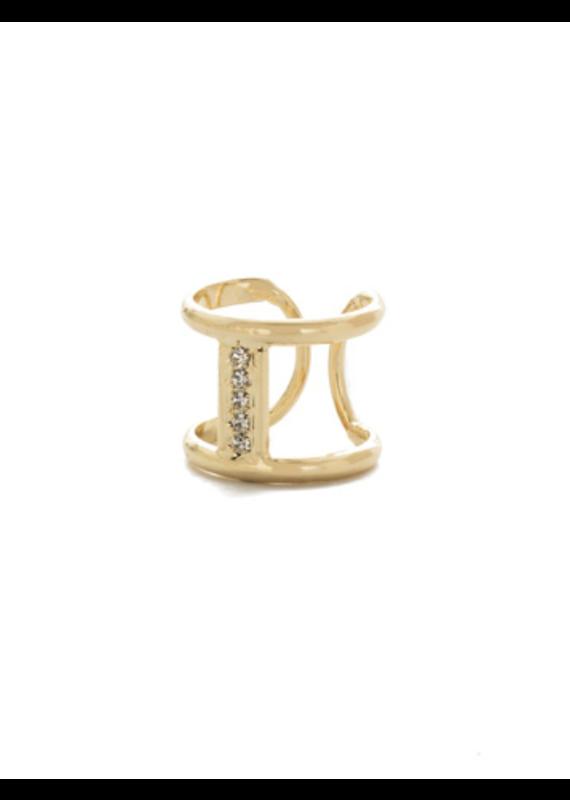 Sorrelli Amenia Offset Band Ring