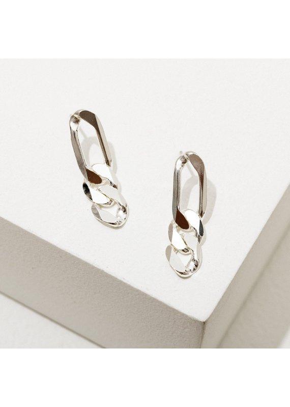 Larissa Loden Chain Post Earrings in Silver