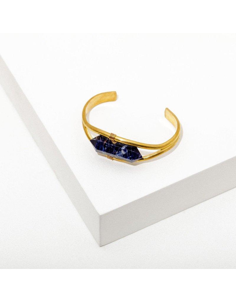 Larissa Loden Solidate Crystal Cuff Bracelet