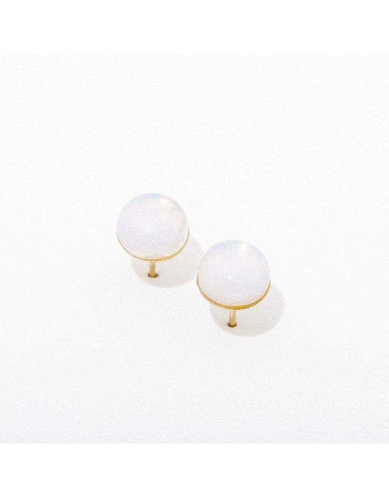 Larissa Loden Gemstone Post Earrings in Opalite