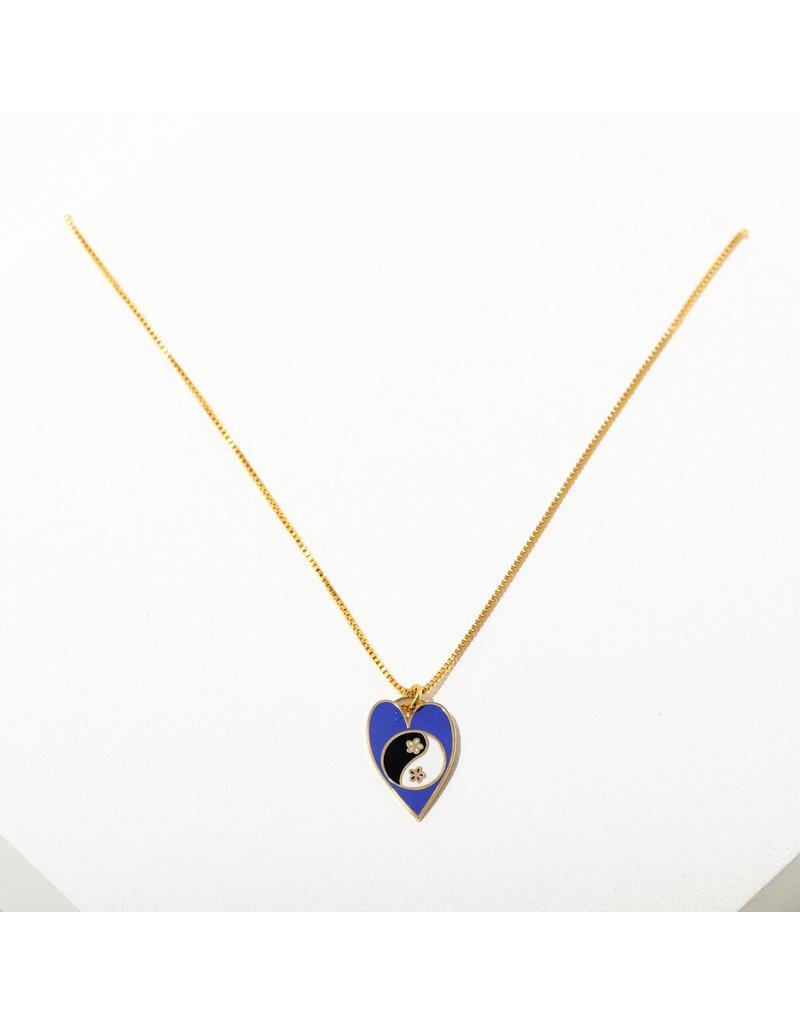 Larissa Loden Yin Yang Heart Necklace