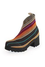 Charleston Shoe Co Upper Monterey Boot Multi Stripe