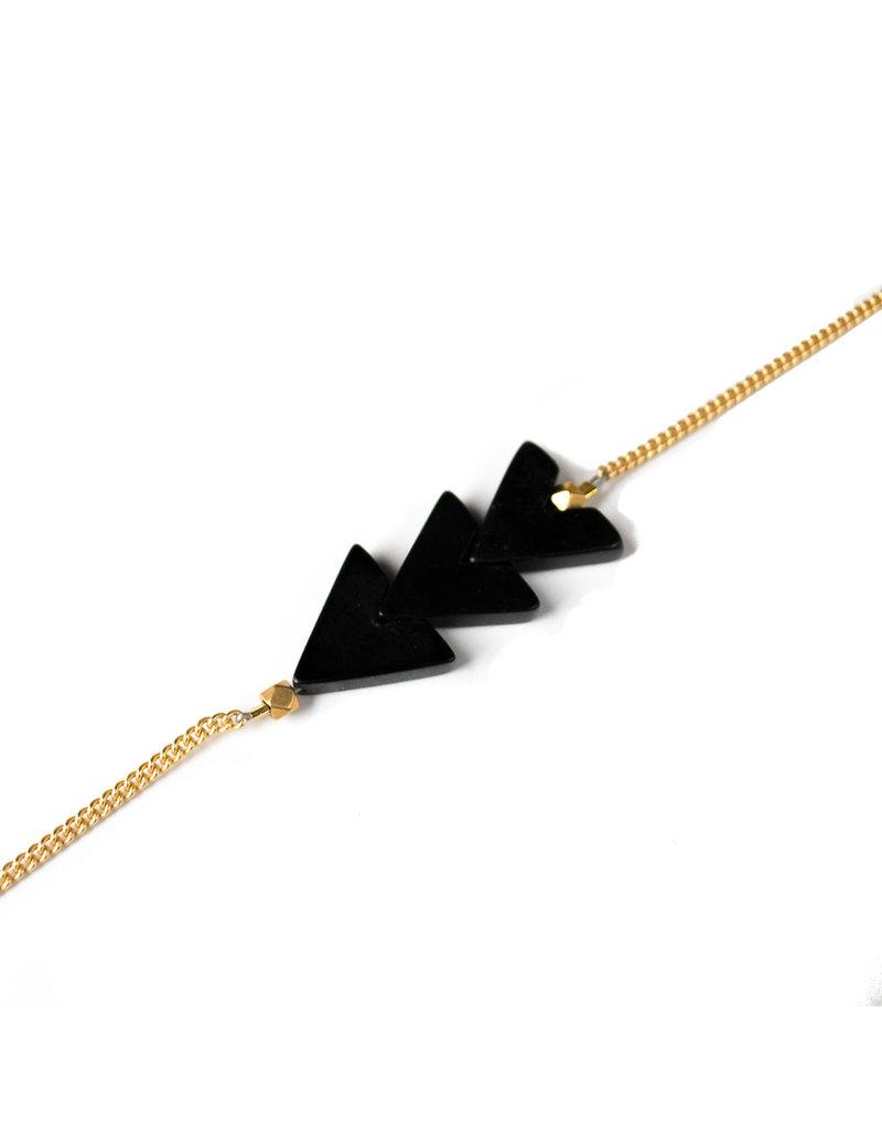 Larissa Loden Triple V Bracelet Onyx