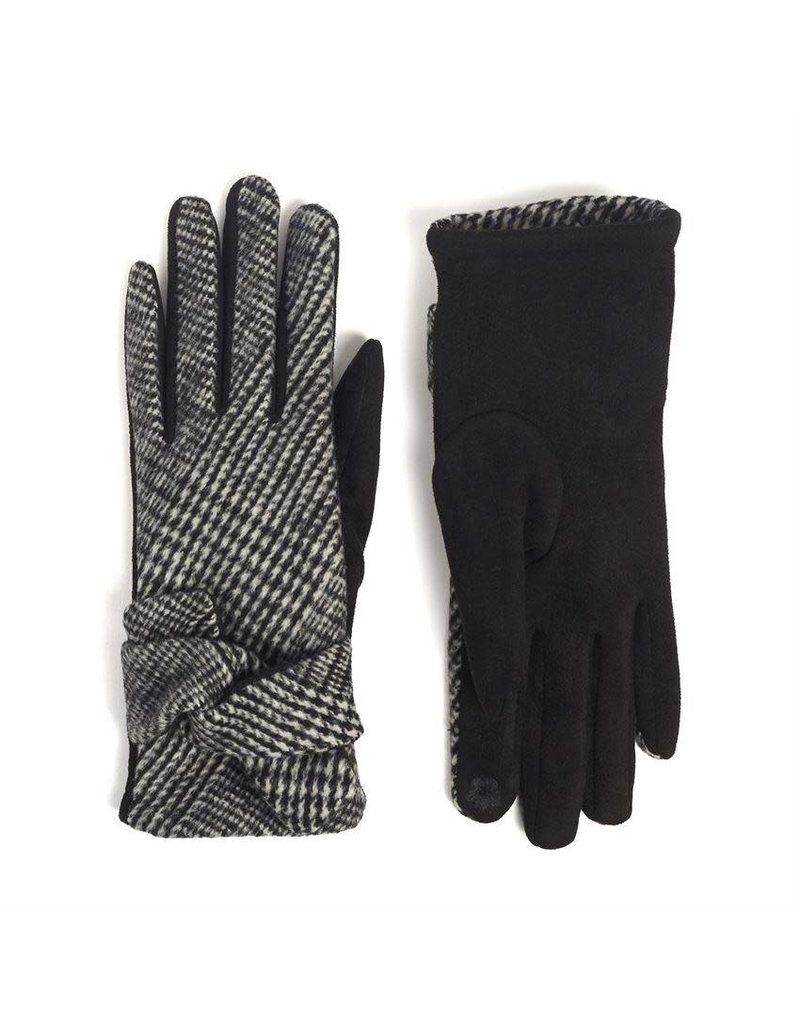 COCO + CARMEN Crossover Wrist Touch Gloves in Black