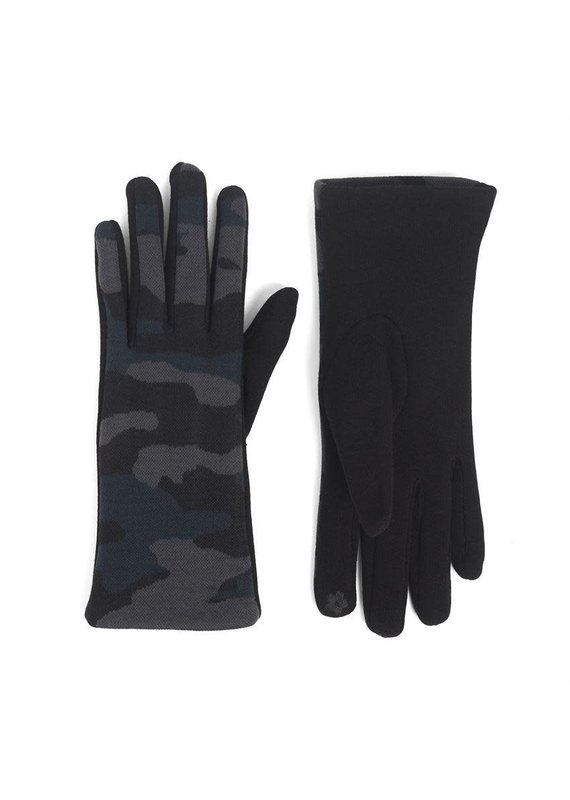COCO + CARMEN Camo Touch Gloves in Blue Grey