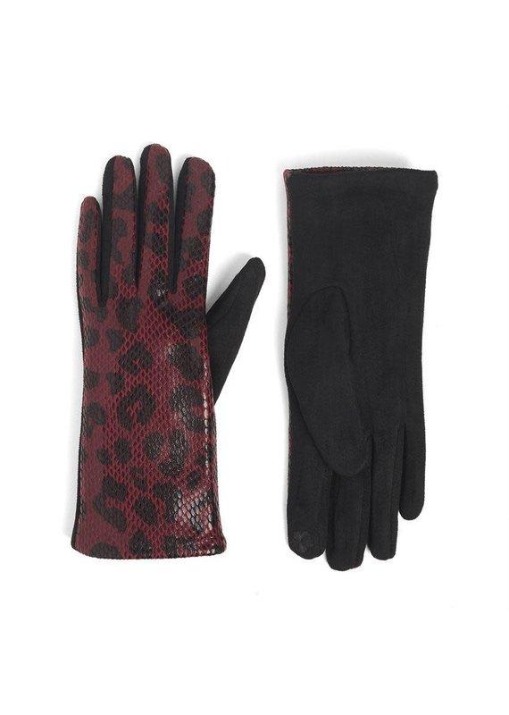 COCO + CARMEN Shine Skin Touch Glove in Red