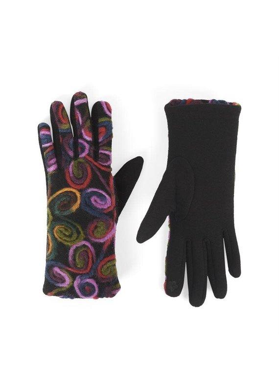 COCO + CARMEN Bright Swirl Felt Touch Gloves
