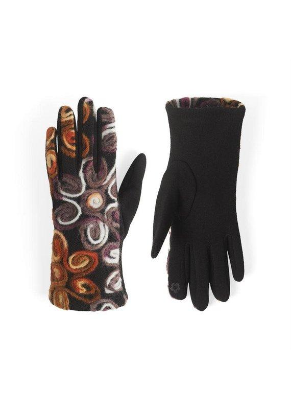 COCO + CARMEN Neutral Flowers Felt Touch Gloves