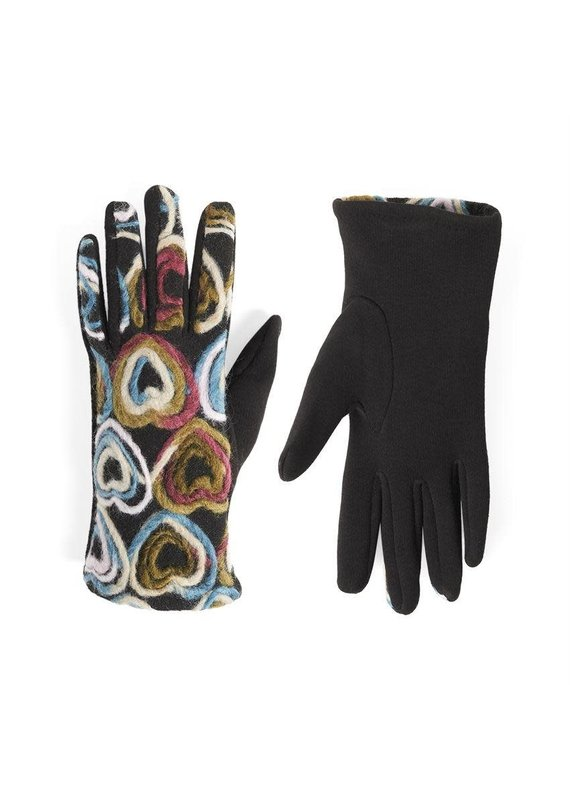 COCO + CARMEN Colorful Hearts Felt Touch Gloves