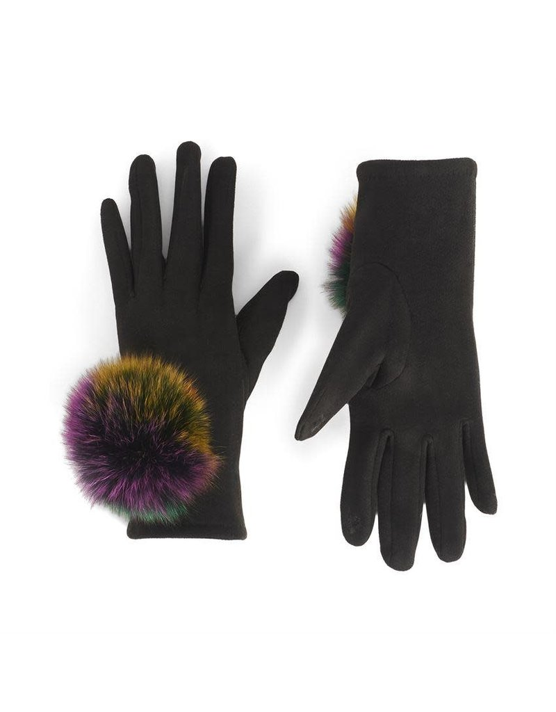 COCO + CARMEN Microsuede Touch Gloves in Black & Multi
