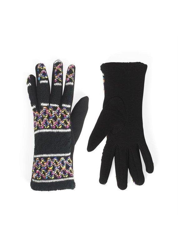 COCO + CARMEN Splash Zig Zag Touch Gloves