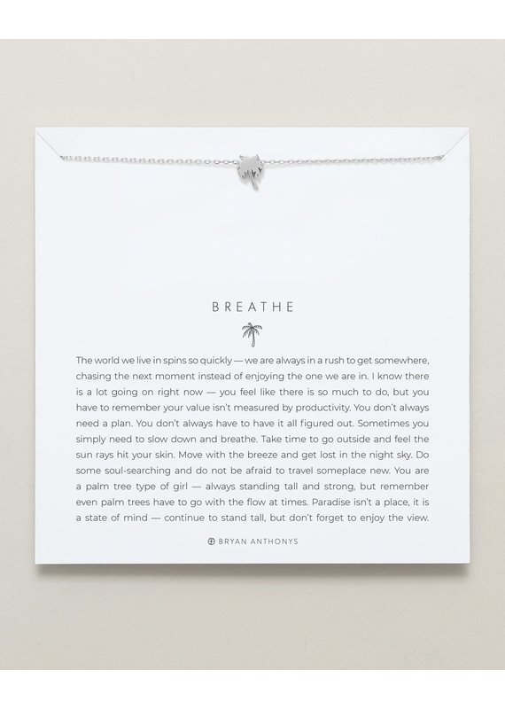 Bryan Anthonys Breathe Necklace in Silver
