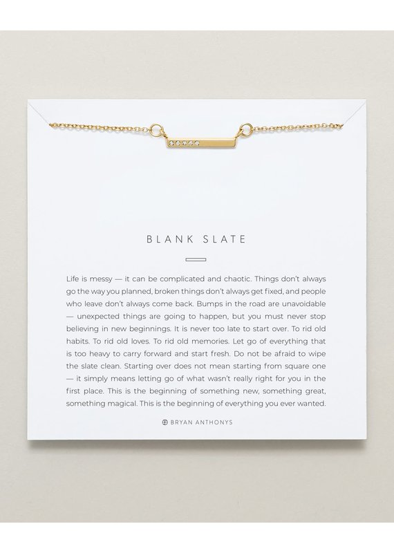 Bryan Anthonys Blank Slate Necklace in Gold