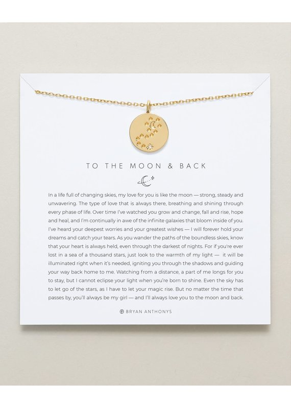 Bryan Anthonys To the Moon and Back Necklace in Gold
