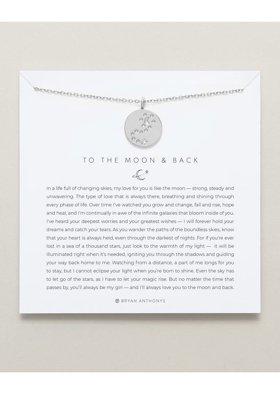 Bryan Anthonys To the Moon and Back Necklace in Silver