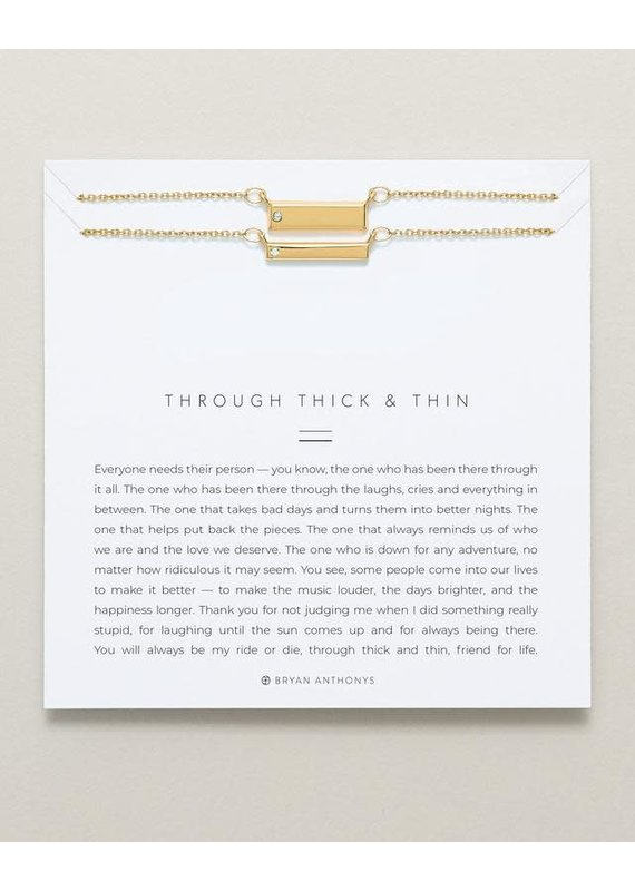 Bryan Anthonys Through Thick & Thin Necklace Set in Gold