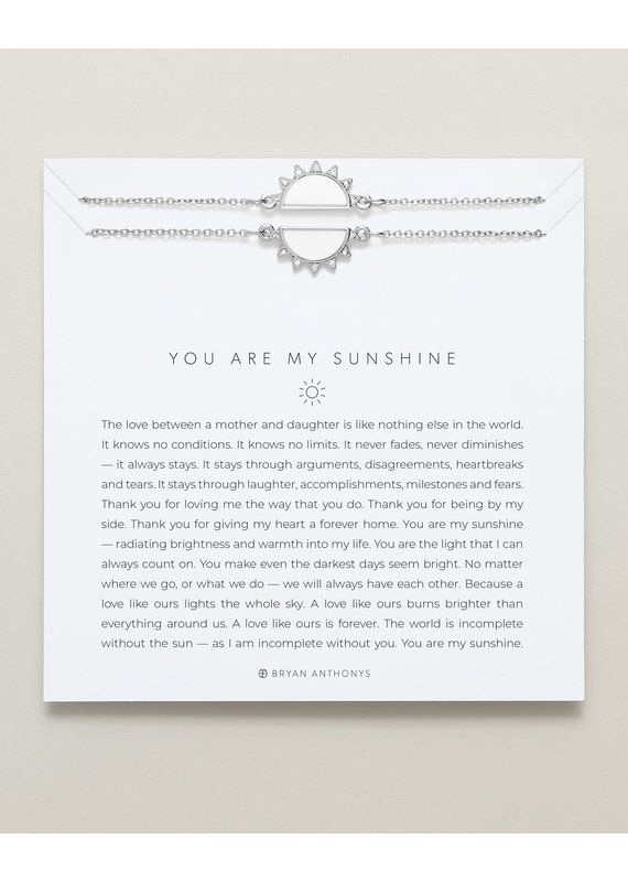 Bryan Anthonys You Are My Sunshine Necklace Set in Silver