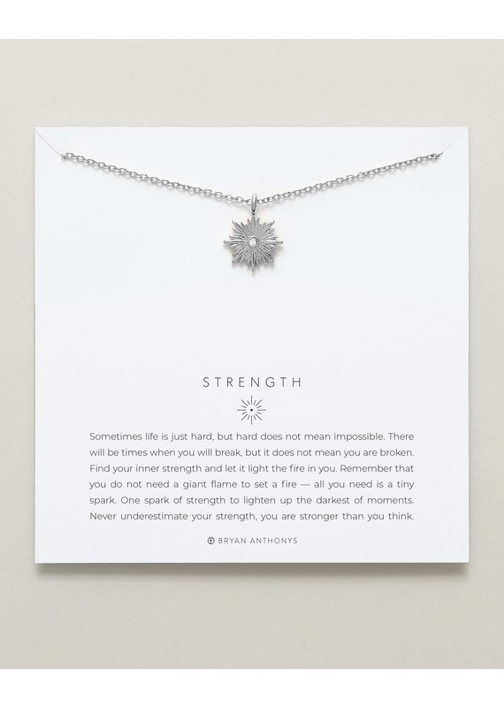 Bryan Anthonys Strength Necklace in Silver
