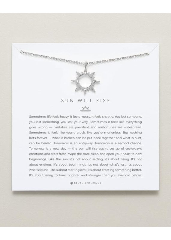 Bryan Anthonys Sun Will Rise Necklace in Silver