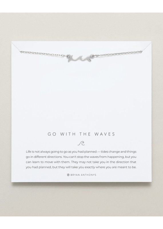 Bryan Anthonys Go With the Waves Necklace in Silver