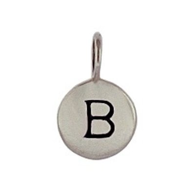 Sterling Silver Charm Initial B