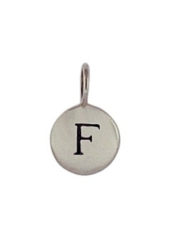 Sterling Silver Initial F Charm