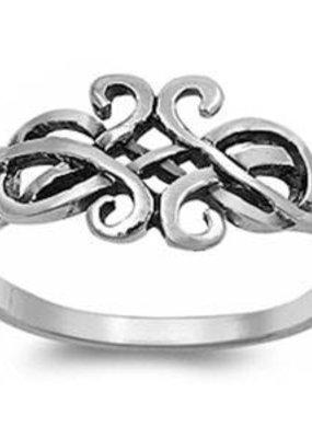 Sterling Silver Celtic Design Ring SZ5