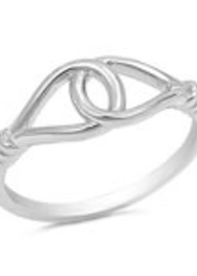 Sterling Silver Circle Link Ring SZ5