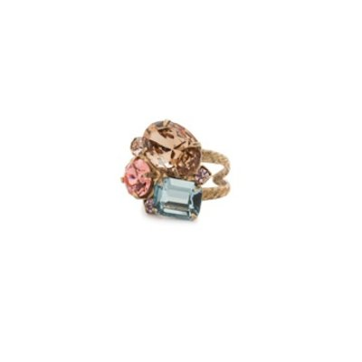Sorrelli Emerald Cluster Ring in Rustic Bloom