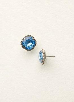 Sorrelli Silver Earrings Light Sapphire