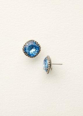 Sorrelli Cushion-Cut Solitaire Earrings in Light Sapphire